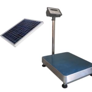 Báscula electronica solar